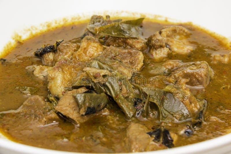 Curry della carne di maiale immagine stock