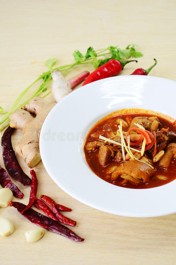 Curry della carne di maiale di Kaeng Hung Ley Moo fotografia stock
