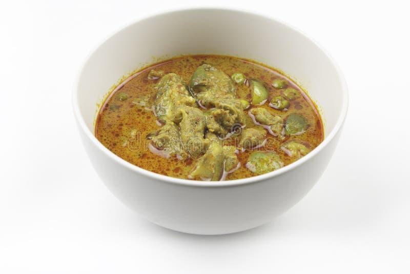 Curry della melanzana, manzo del curry con alimento tailandese piccante immagine stock libera da diritti