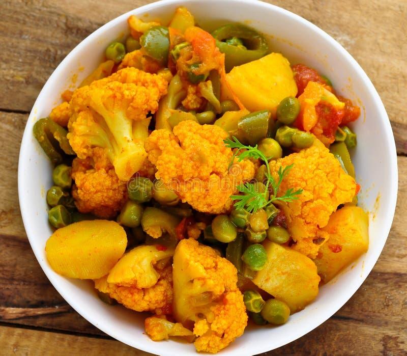 Curry della verdura della miscela immagini stock libere da diritti