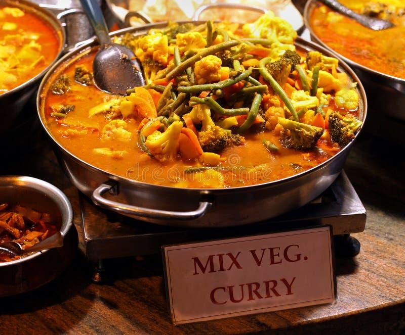 Curry delle verdure della miscela immagine stock