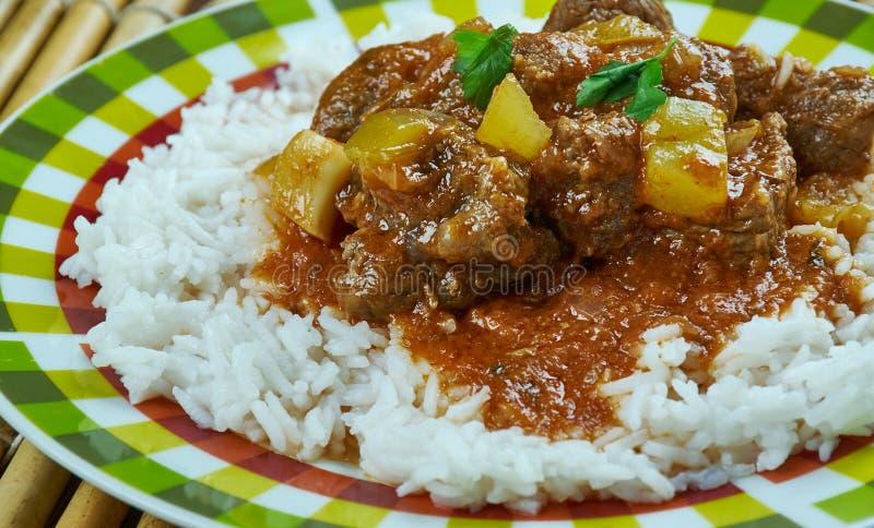 Curry di agnello indiano fotografia stock libera da diritti