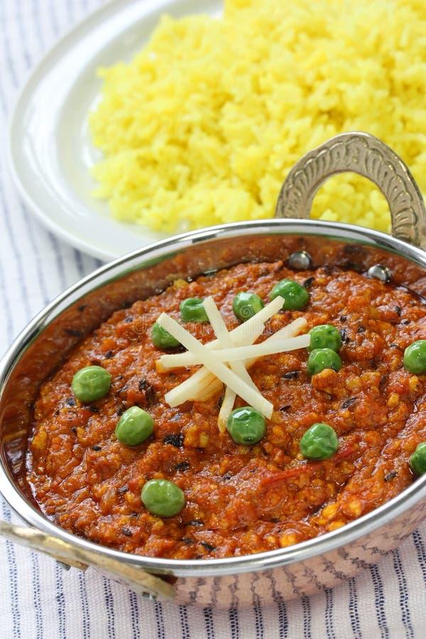 Curry di Keema, alimento indiano immagini stock libere da diritti