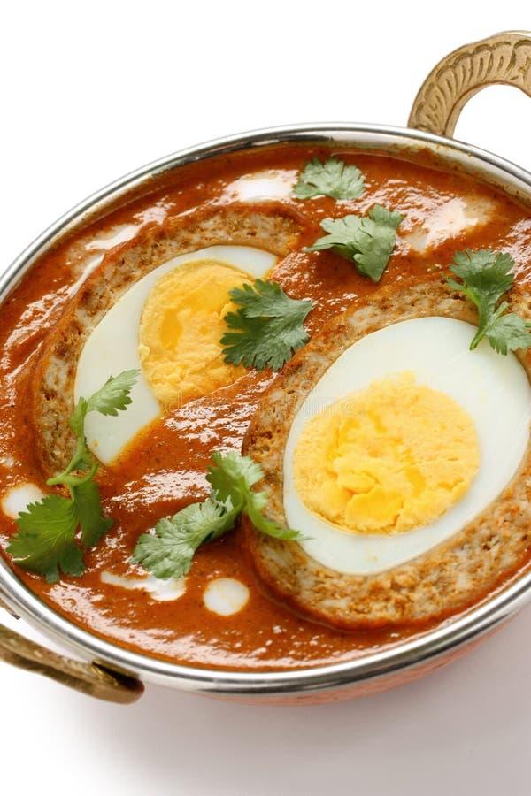 Curry di kofta di Nargisi, cucina indiana immagine stock