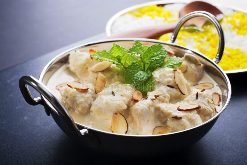 Curry di Korma del pollo immagine stock