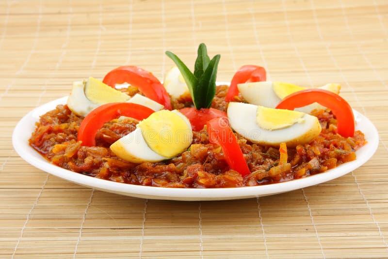 Curry di masala dell'uovo fotografie stock libere da diritti