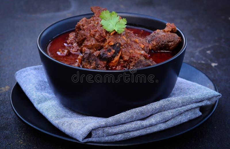Curry di rosso dell'agnello di Laal Mosa immagini stock
