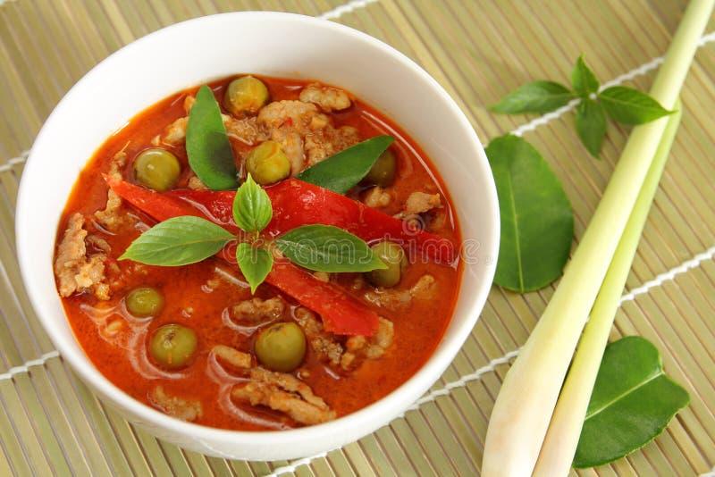 Curry di rosso della carne di maiale. immagini stock
