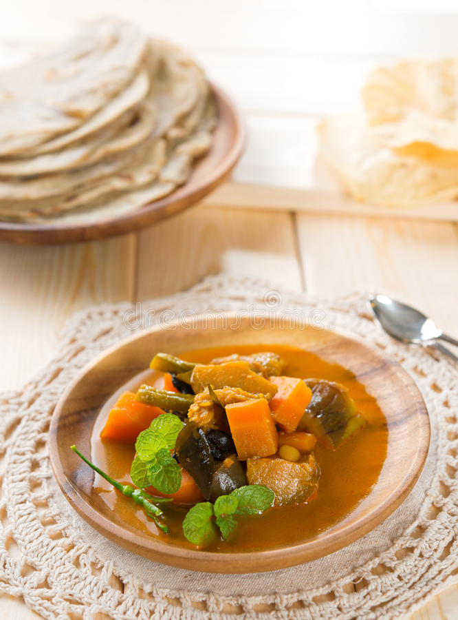 Curry di verdure dhal immagine stock