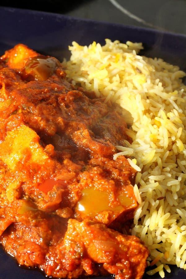Curry e riso immagine stock