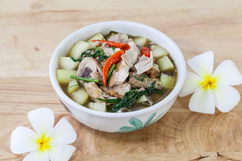 Curry'ego kurczaka ląg, Tajlandzki jedzenie obrazy royalty free