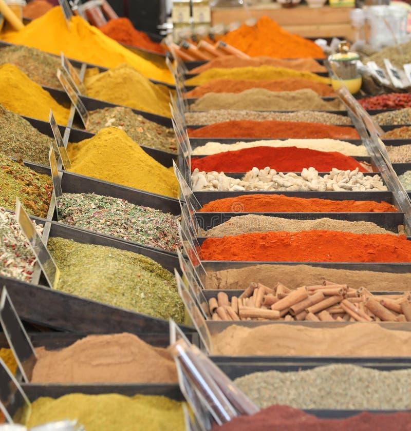 curry'ego parika i inne pikantność dla sprzedaży obraz stock