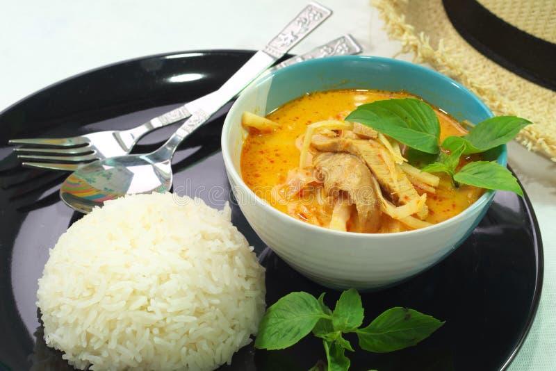 Download Curry'ego Wieprzowina Piec Asparagus Obraz Stock - Obraz złożonej z zdrowy, milka: 57650133