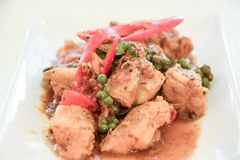 Curry frito del cerdo fotografía de archivo