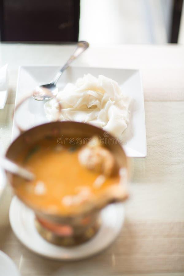 Curry-Hühnerthailändischer Küche-Lebensmittel-Thailand-Asiat lizenzfreies stockbild