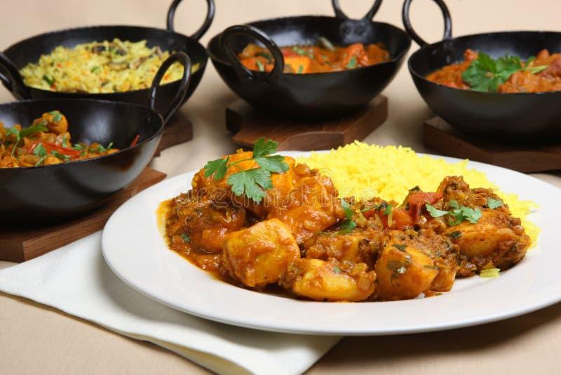 curry hindusa posiłek. obraz royalty free