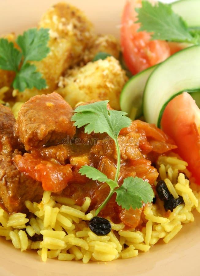 Curry indiano del manzo fotografie stock