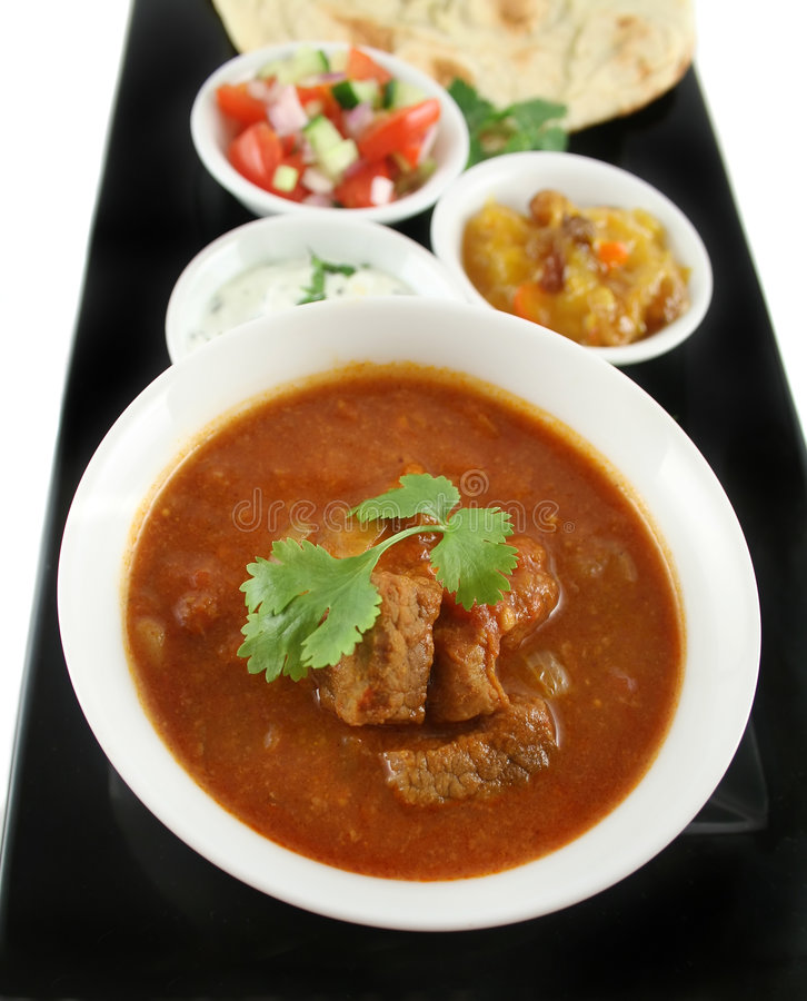Curry indiano del manzo di Vindaloo immagine stock libera da diritti