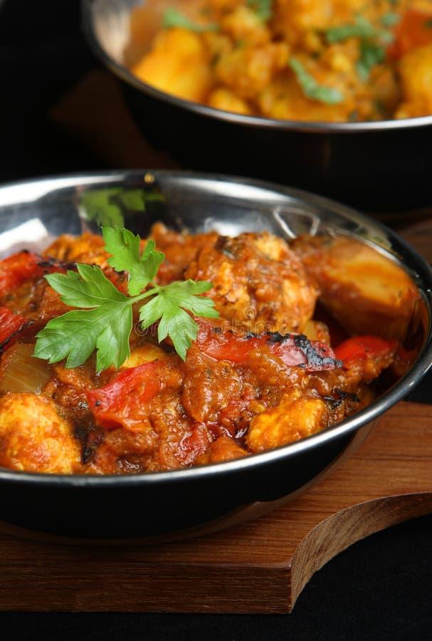 Curry indiano del pollo fotografie stock libere da diritti