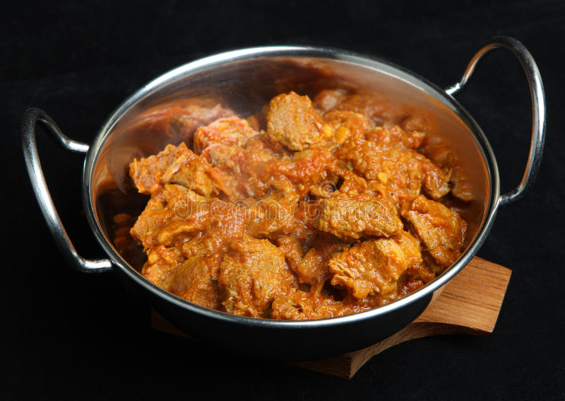 Curry indiano della carne dell'agnello fotografia stock