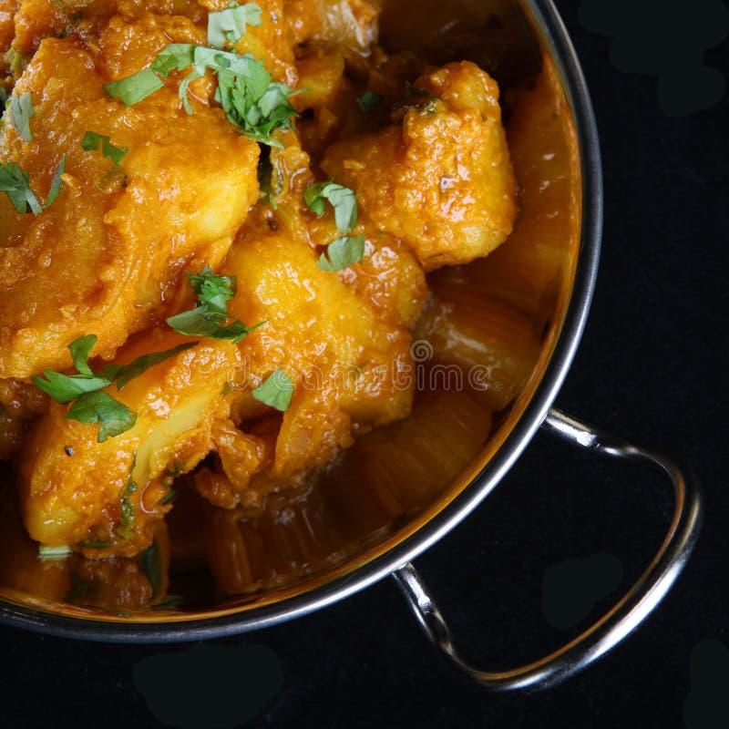 Curry indiano della patata fotografie stock