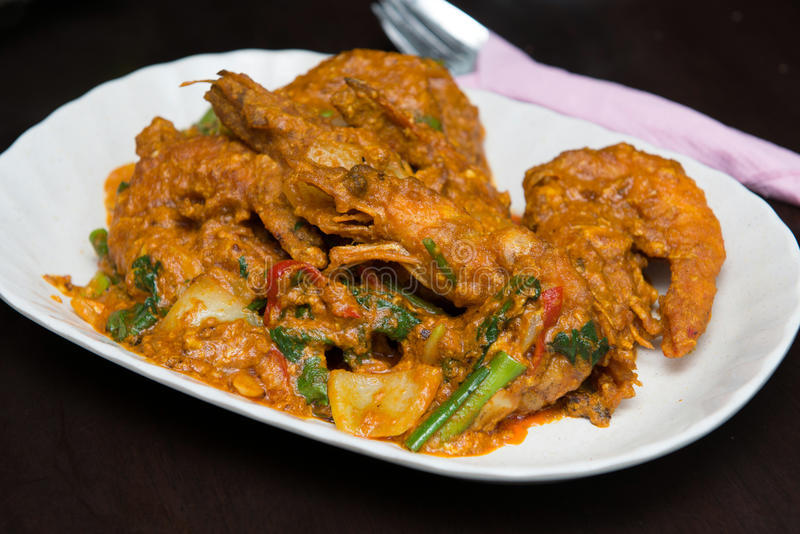 Curry krewetka obrazy royalty free