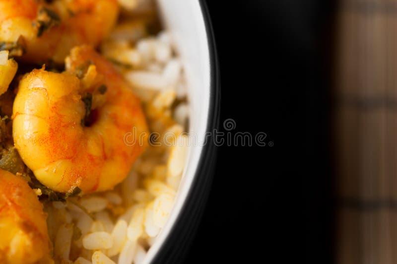 Curry krewetki z ryż 02 zdjęcia royalty free