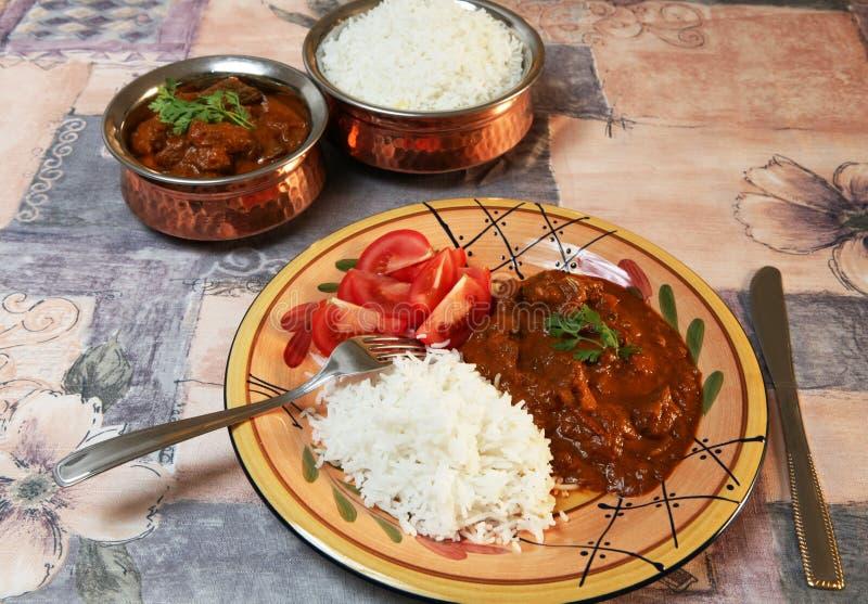 curry madras för nötkött 3 royaltyfria bilder