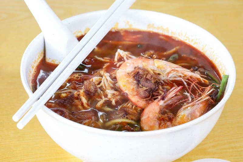 Curry Mee de la gamba foto de archivo
