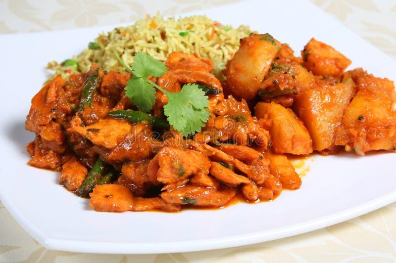 Curry-Nacht lizenzfreie stockbilder
