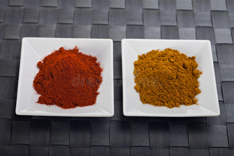 Curry and paprika stock photography