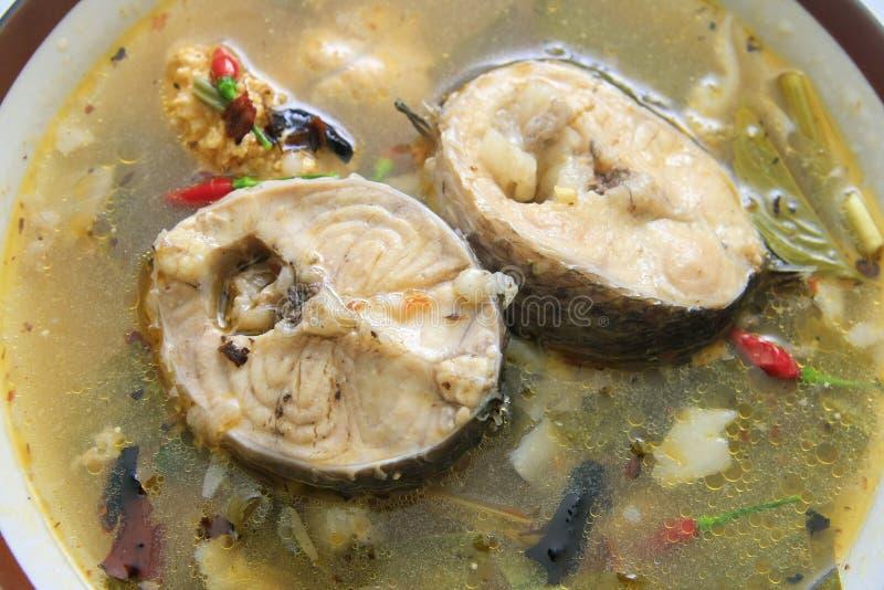 Curry piccante del pesce fotografia stock libera da diritti