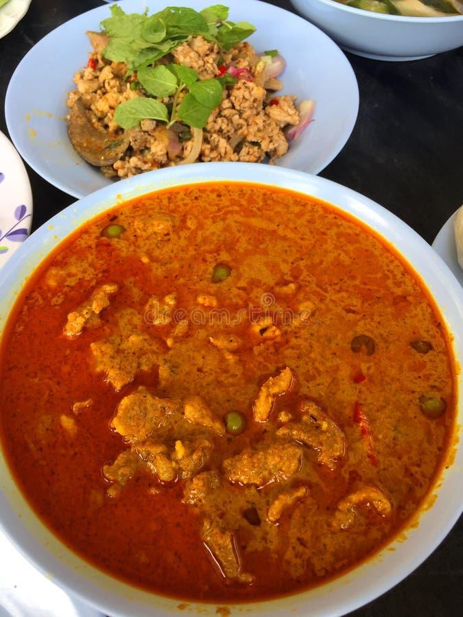 Curry piccante di masaman del manzo immagine stock
