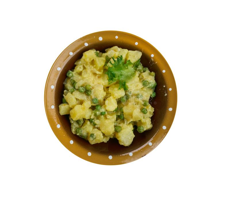 Curry piccante giamaicano della patata fotografia stock libera da diritti