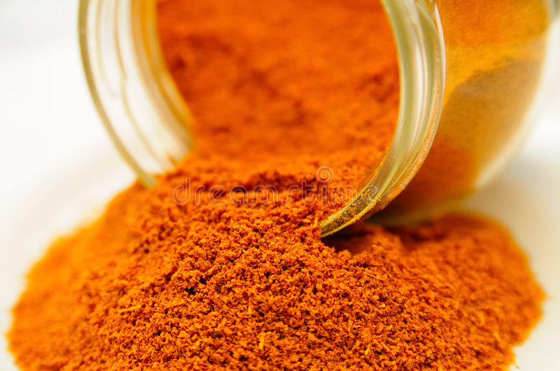 Curry Powder Pot stock images