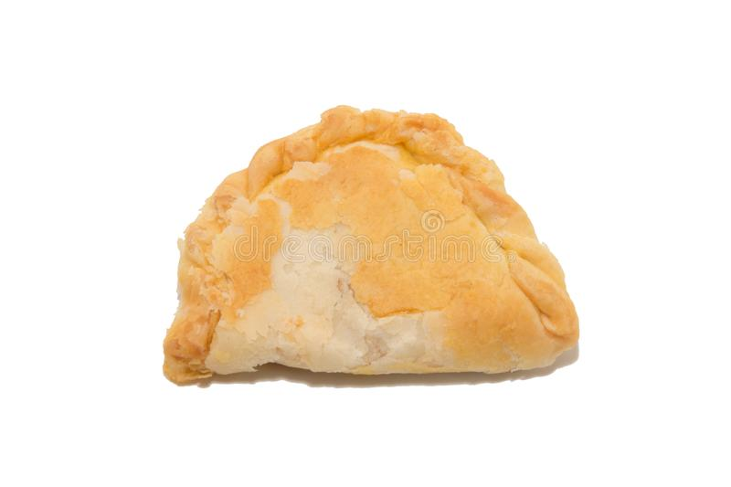 Curry puff on white background royalty free stock photography
