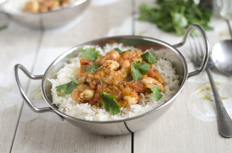 Curry rapido del gamberetto fotografie stock libere da diritti