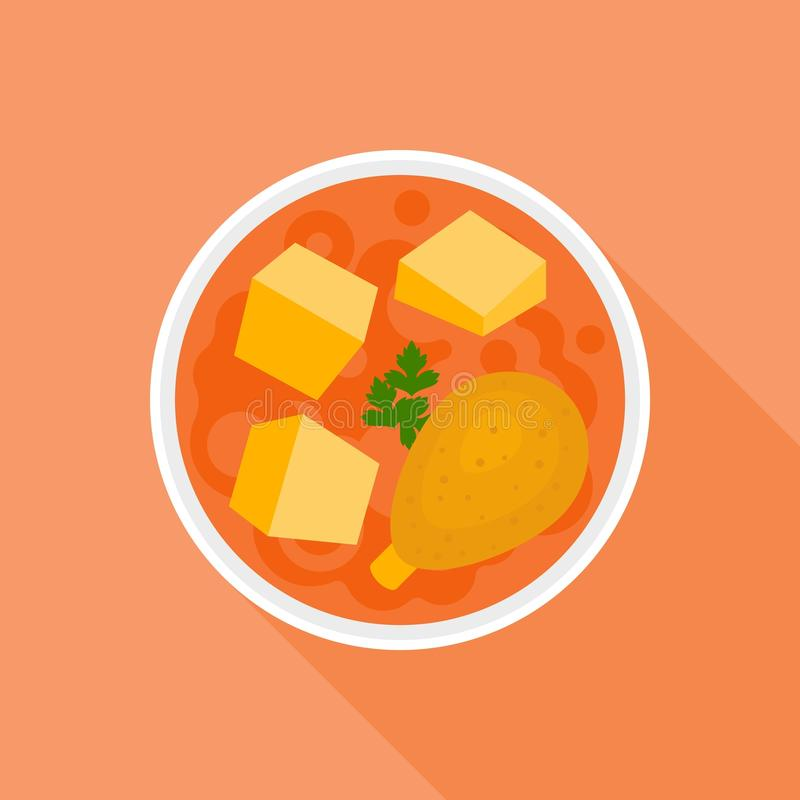 Curry rojo libre illustration