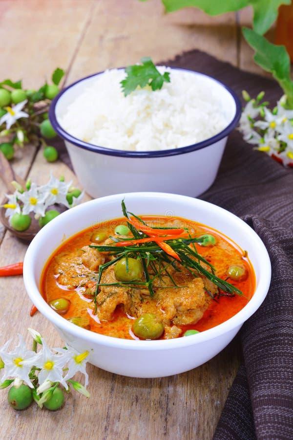 Curry rojo tailandés con leche del cerdo y de coco y x28; panaeng& x29; foto de archivo libre de regalías