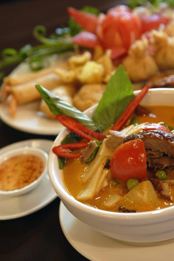 Curry rosso dell'anatra immagini stock libere da diritti