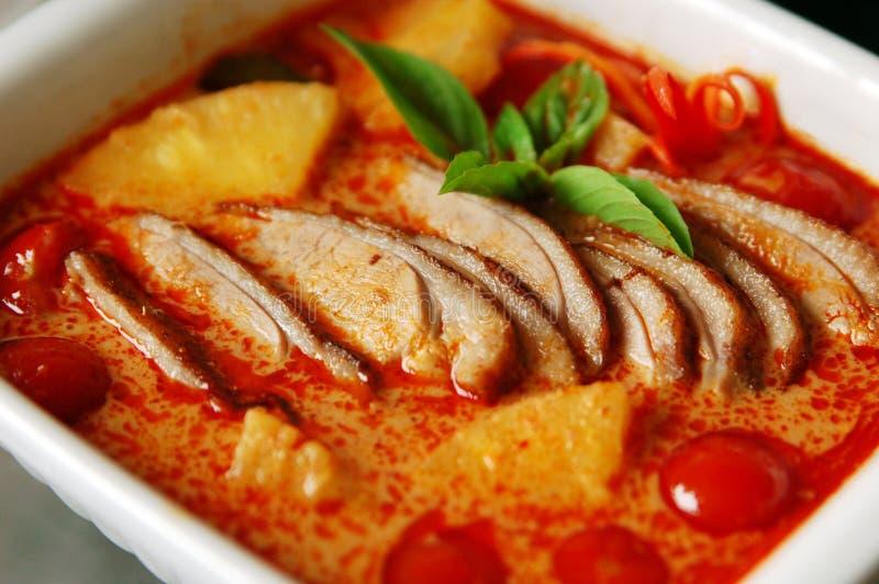 Curry rosso dell'anatra fotografia stock