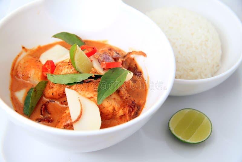 Curry rosso piccante dei pesci immagine stock