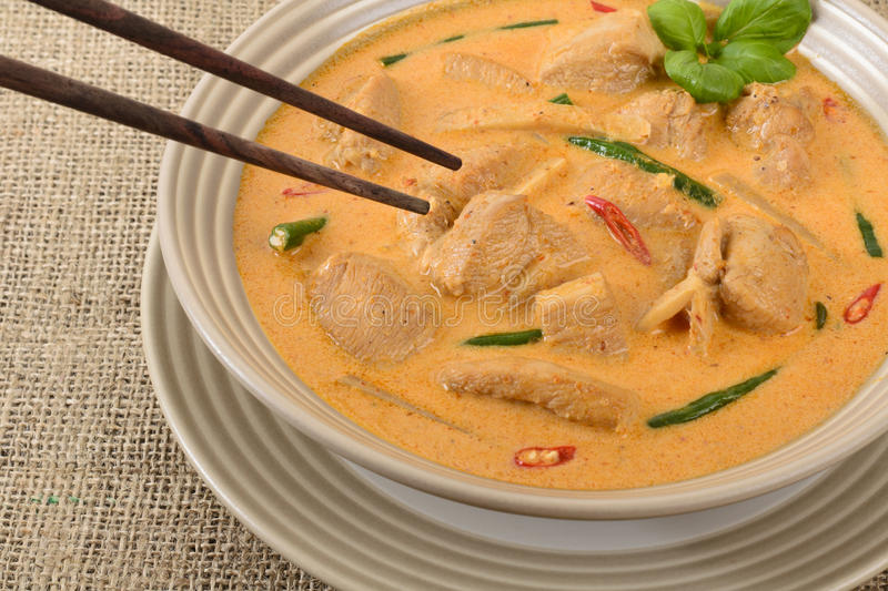 Curry rosso tailandese fotografie stock