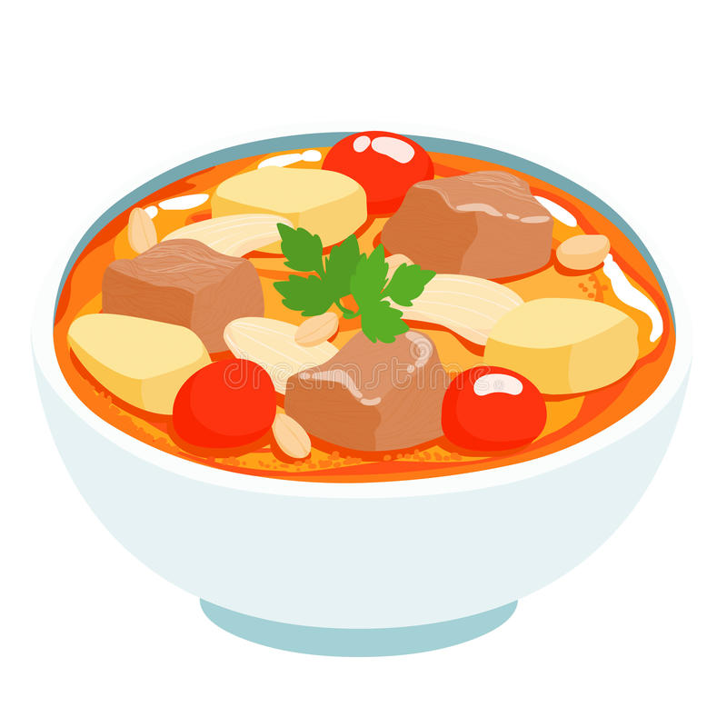 curry tailandés del massaman con carne de vaca libre illustration