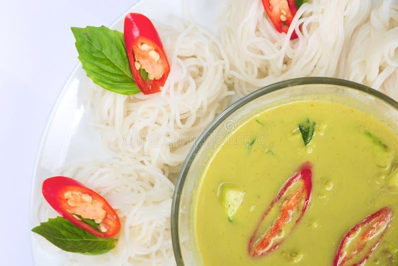 Curry tailandese del pollo immagini stock