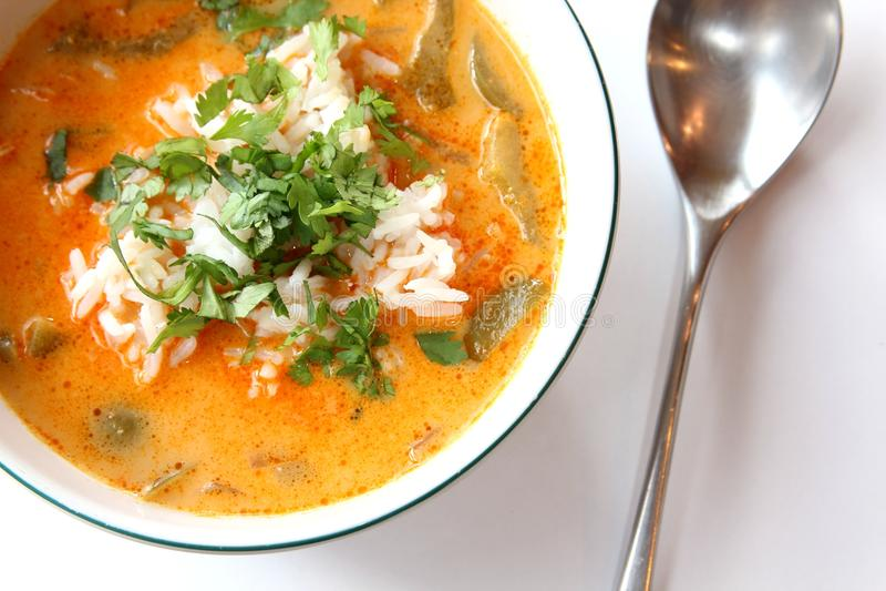 Curry tailandese rosso fotografia stock