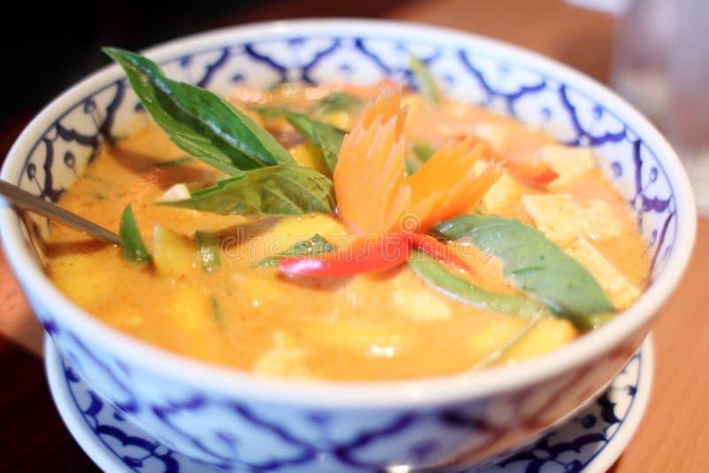 Curry tajlandzka mangowa polewka zdjęcie stock