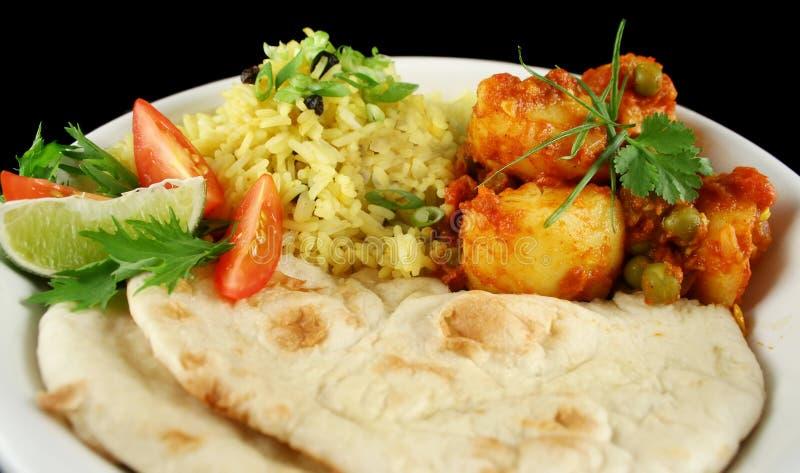 Curry vegetariano indio fotos de archivo libres de regalías