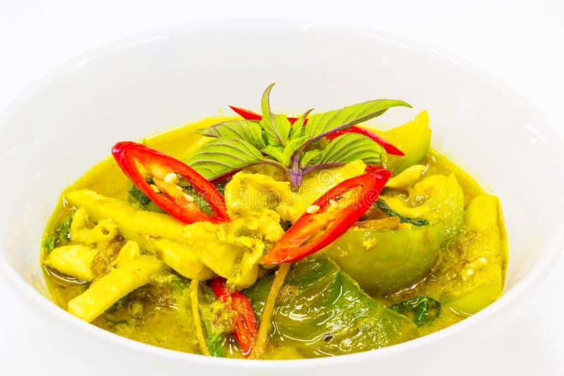 Curry verde con el pollo foto de archivo