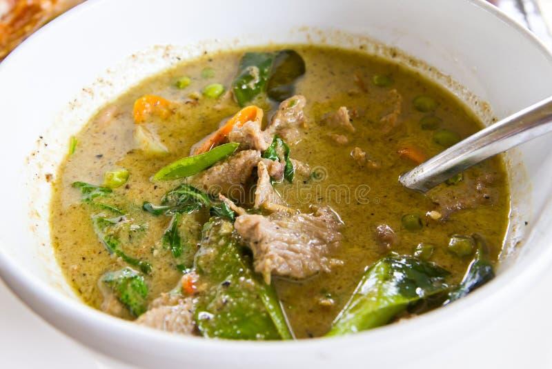 Curry verde del manzo fotografia stock